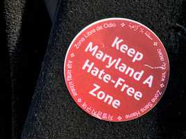 Keep Maryland Hate-Free Zone button
