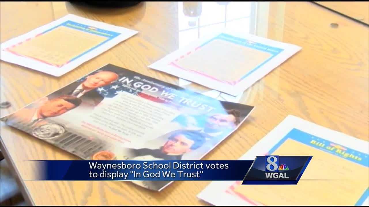 Waynesboro schools in God We Trust