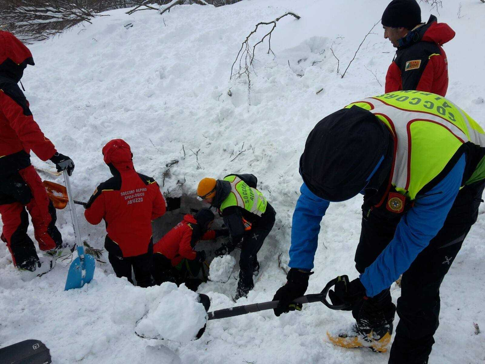 Six survivors found in hotel hit by avalanche in Italy