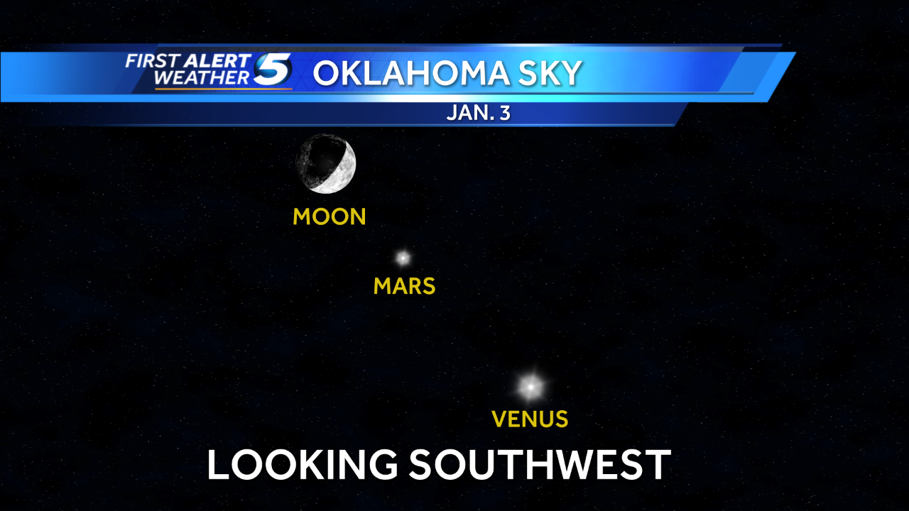 Wondering what that bright light under the moon was last night?