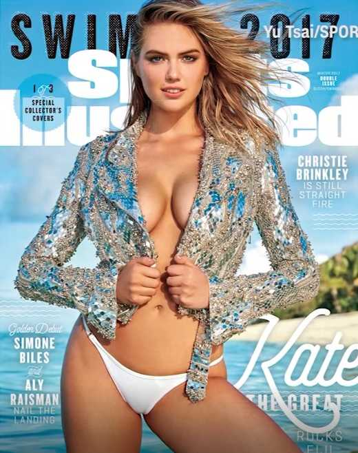 Kate Upton on Sports Illustrated's swimsuit edition cover again