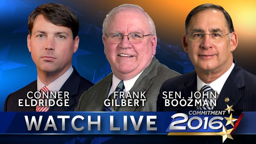 Conner Eldridge, Frank Gilbert, Sen. John Boozman debate