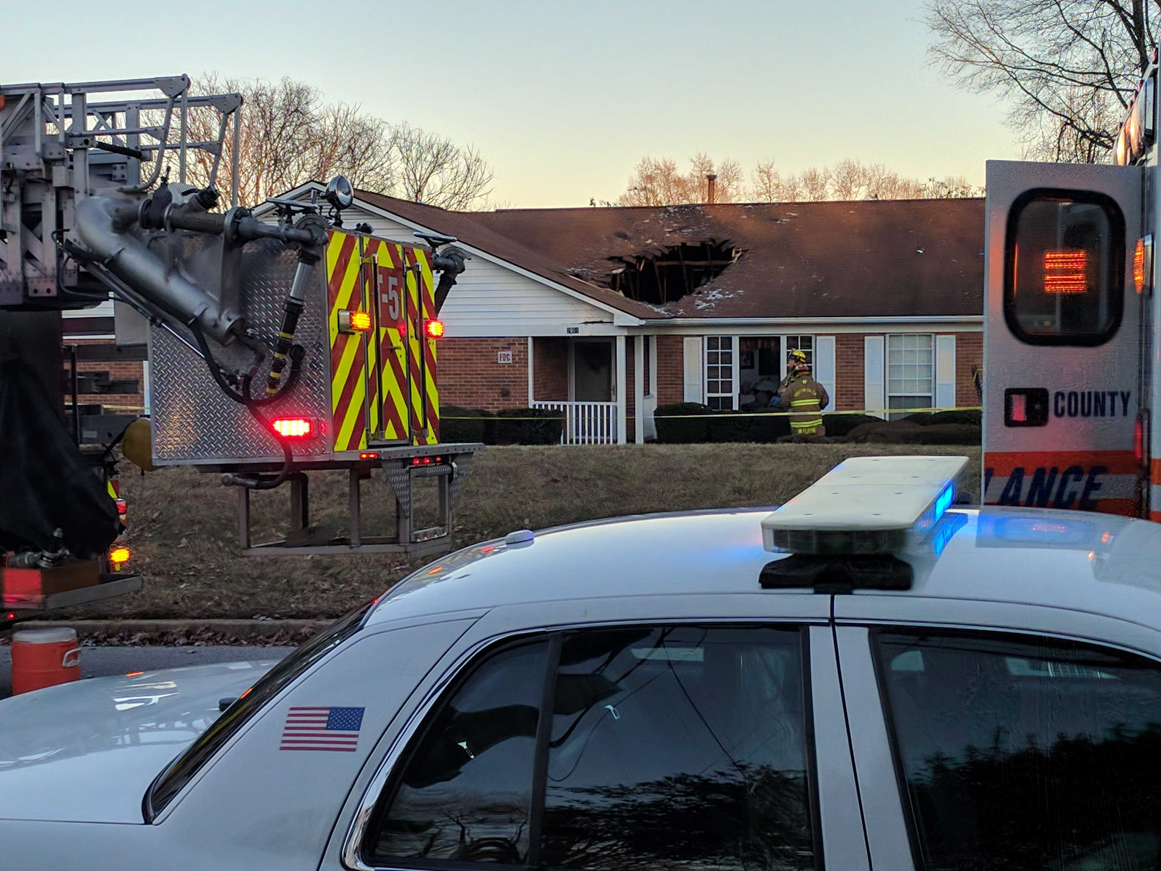 Auto crashes through roof of NC group home