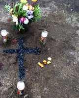 Memorial at the shooting scene