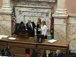Michael Busch sworn in as Speaker