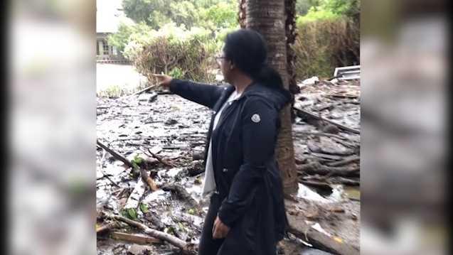 Oprah posts video of devastating mudslides outside California home