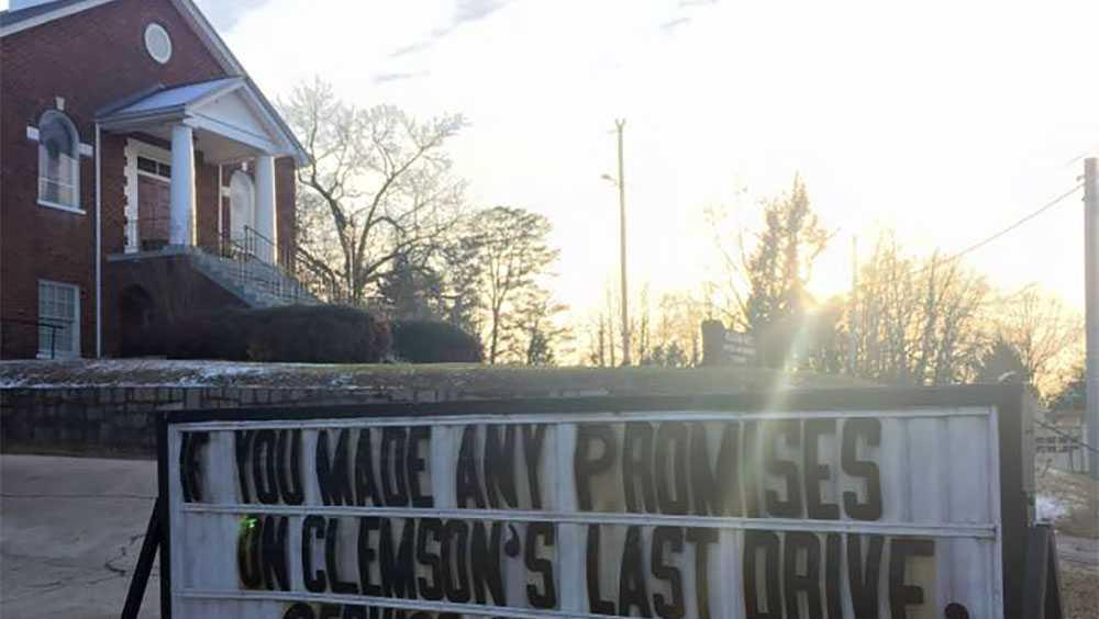 Piedmont United Methodist Church AllIn sign