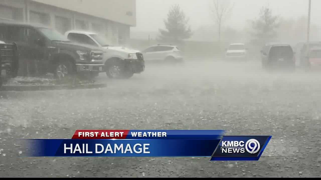 Kmbc 9 News >> Hail storm leaves trail of damage in Liberty