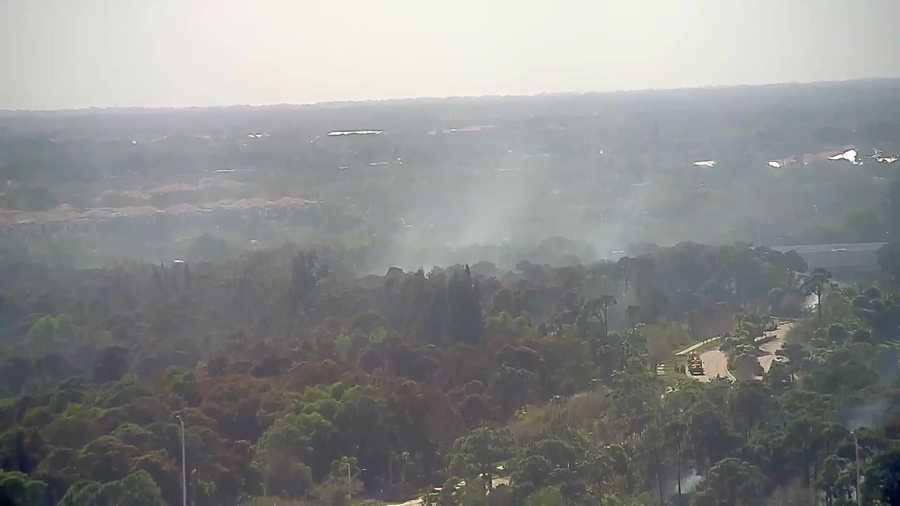 Palm Beach Gardens Brush Fire Flares Up