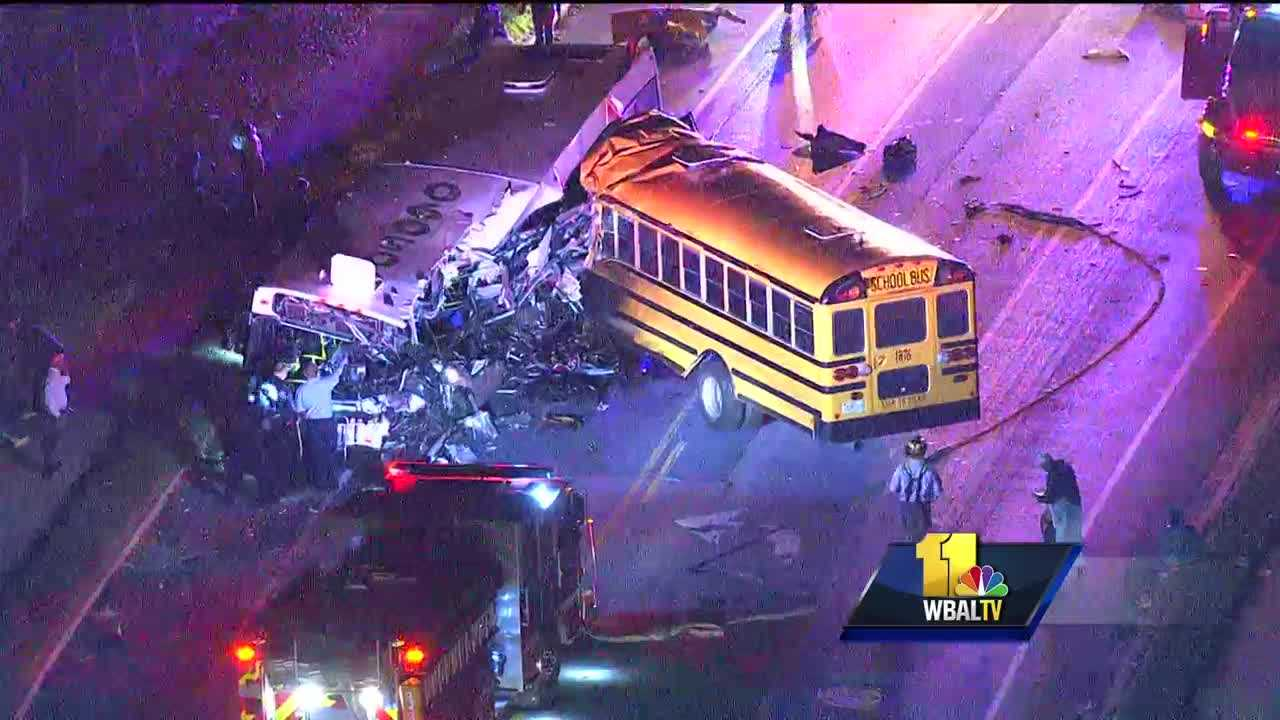 3 dead after buses collide in Baltimore