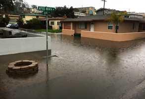 Flooding in Rio Del Mar neighborhood of Aptos