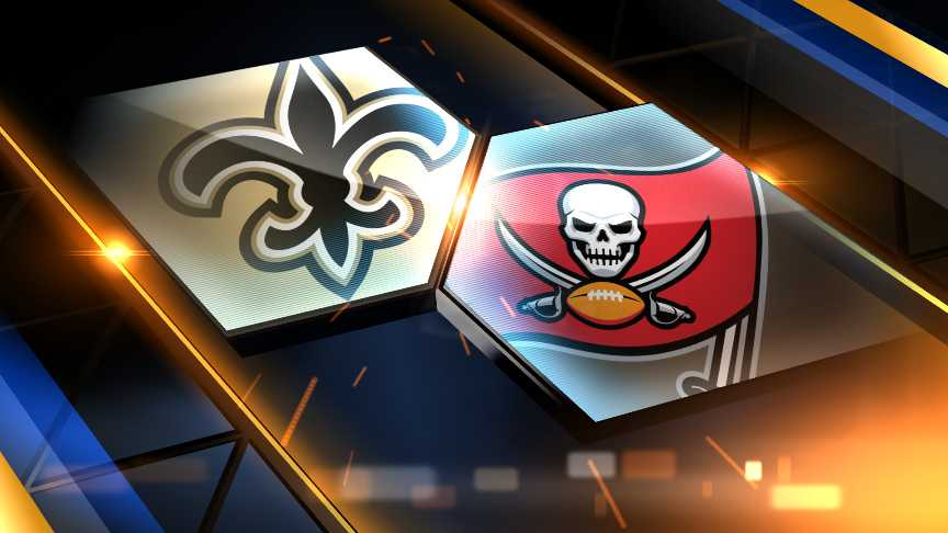 Saints trail the Buccaneers at the half