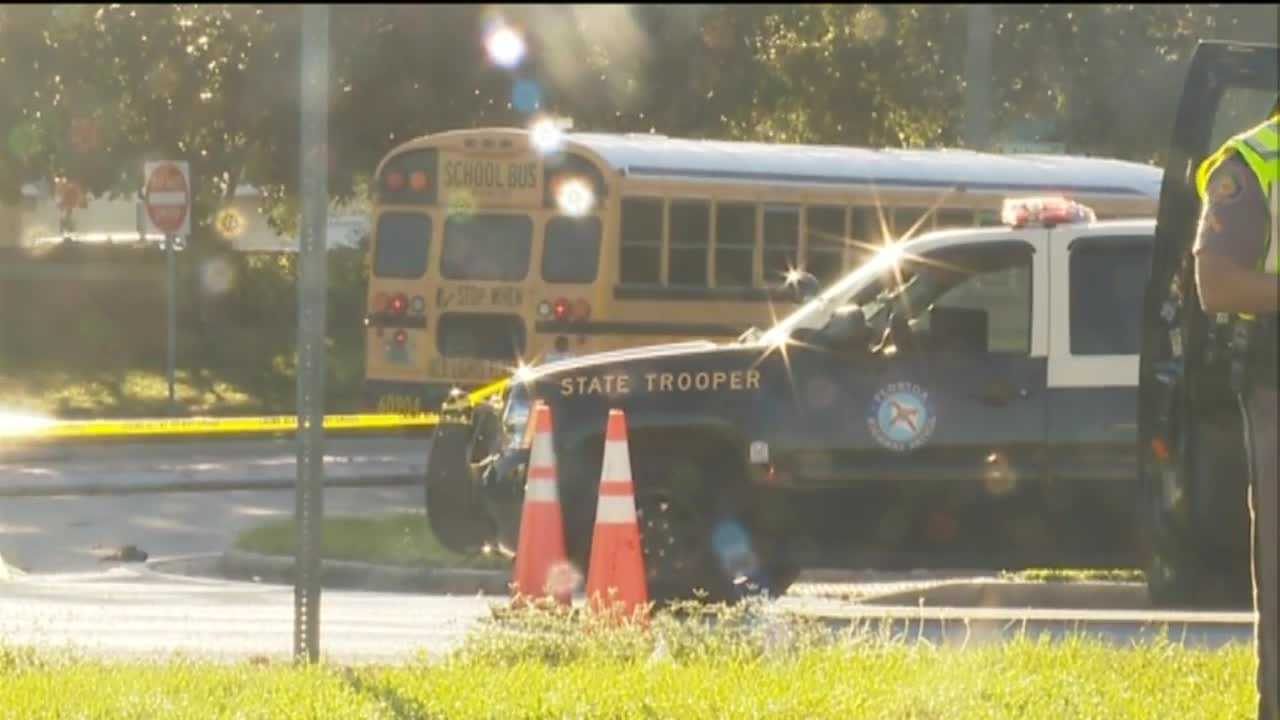 Troopers: Motorcyclist dies after collision with school bus