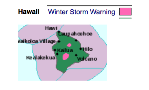 It's snowing in Hawaii