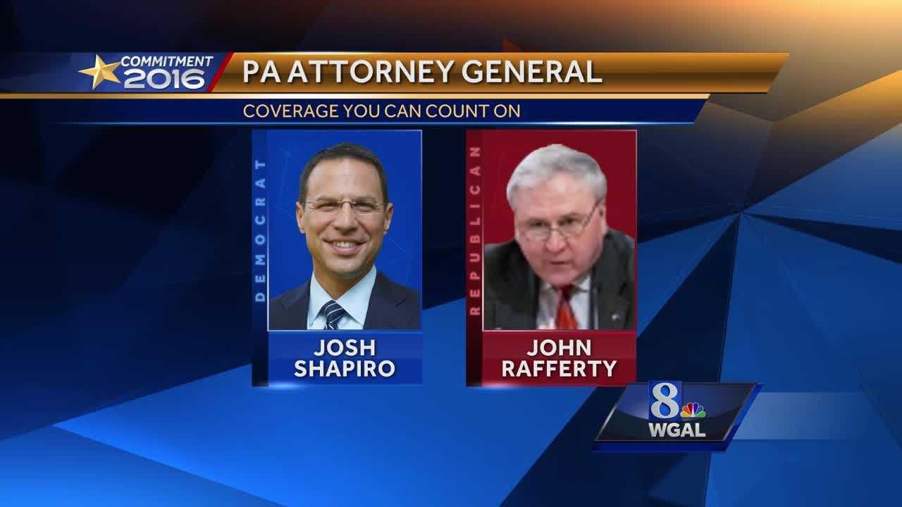 Shapiro ahead of Rafferty for PA Attorney General