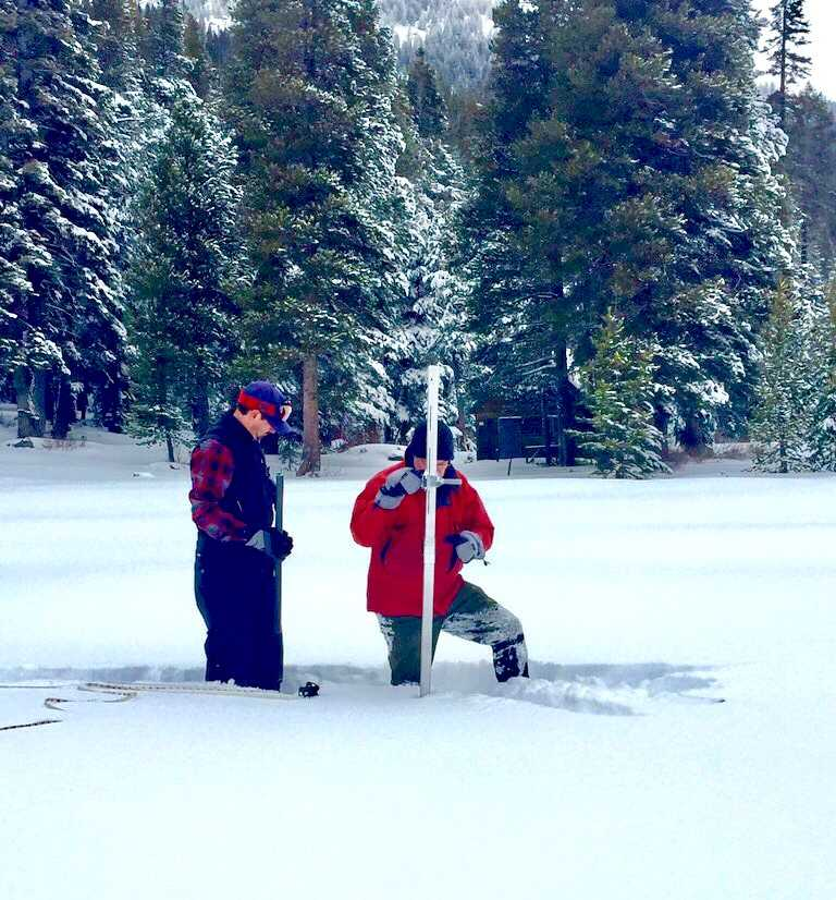 First snow survey reveals below-average water content