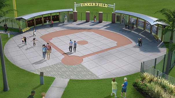Tinker Field History Plaza