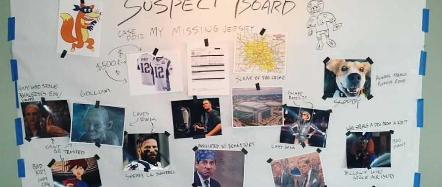 Tom Brady suspect board