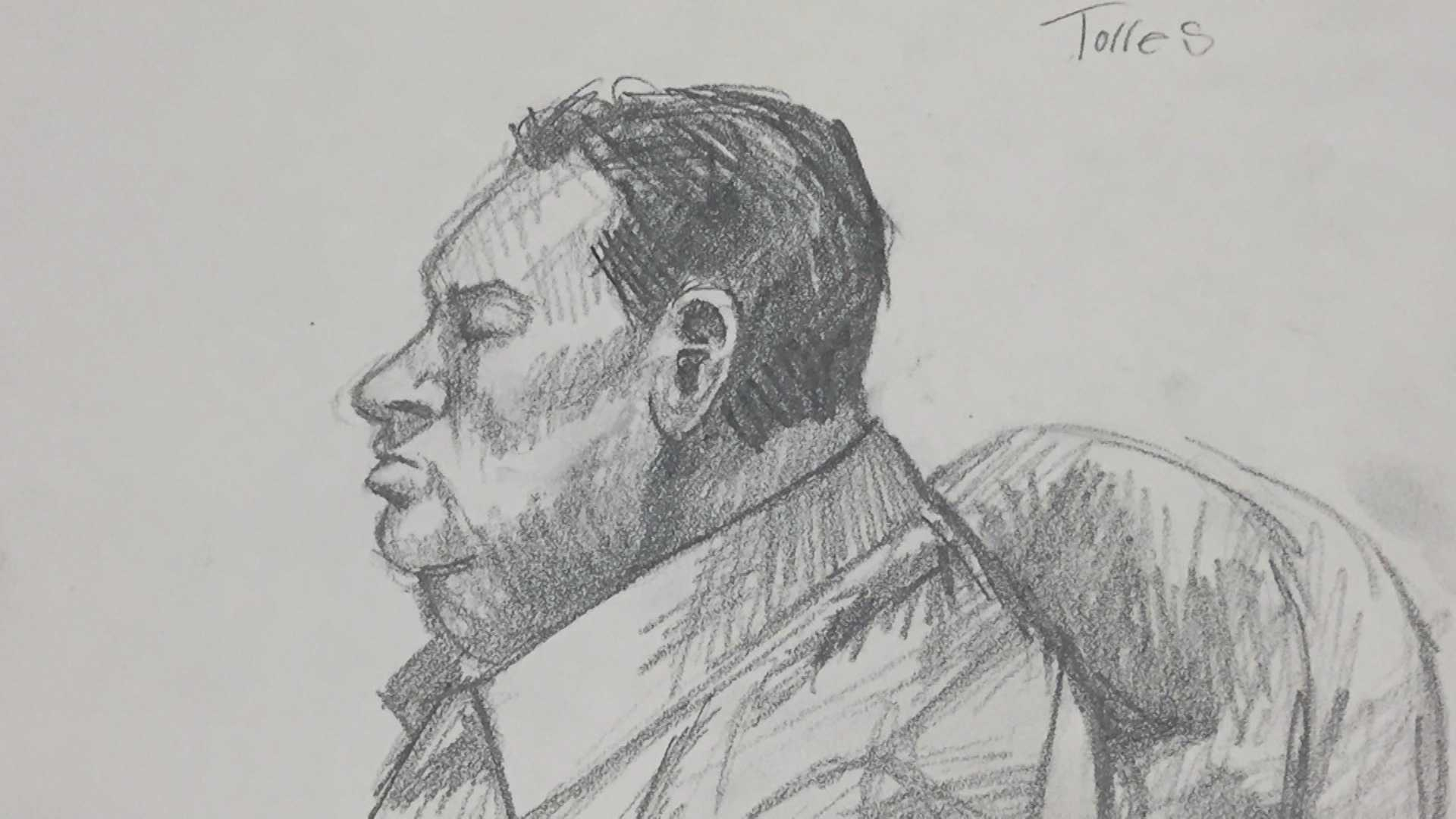 Sketch artist's drawing of Mauricio Torres in court