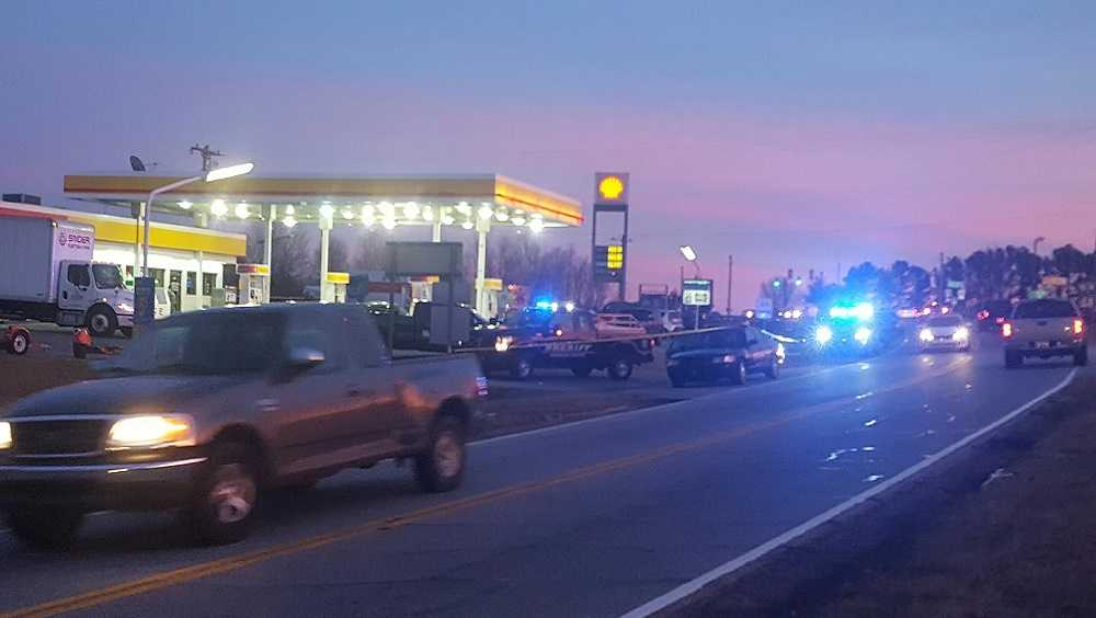Shooting at Townville gas station
