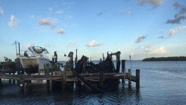 2 boats destroyed near Ocean Boulevard