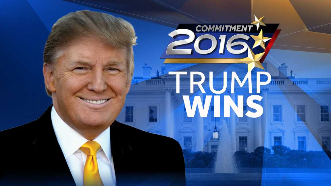 Image result for donald trump wins presidency