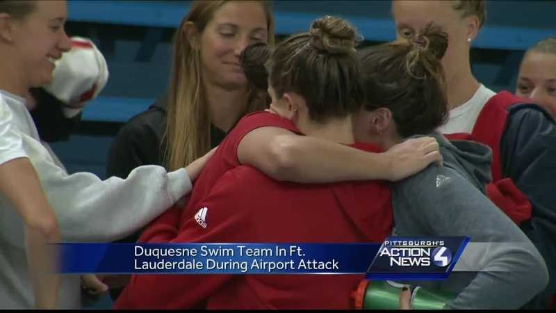 39 It Looked Like Chaos In There 39 Duquesne Swimmers Thankful To Be Back On Campus After Fort