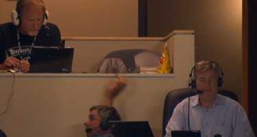 Pirates broadcaster Bob Walk fell out of his chair during a game.