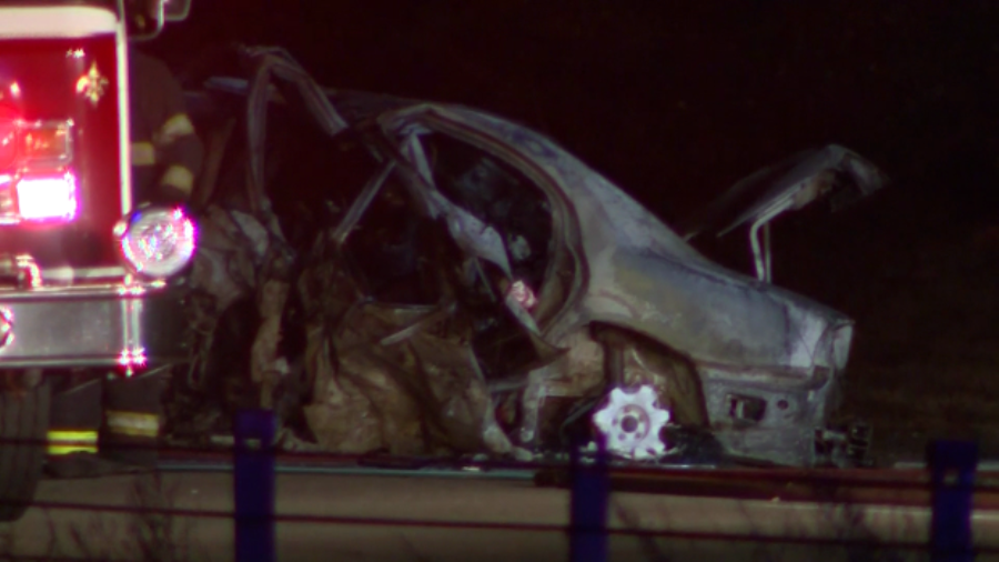 5 killed in wrong-way crash on Interstate 495