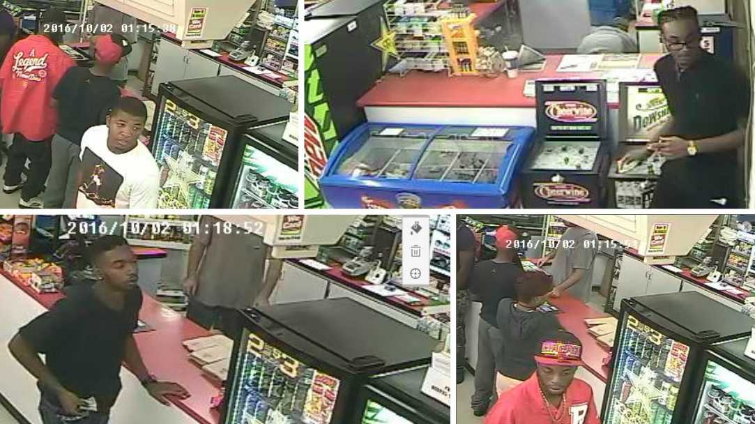 Tuscaloosa police release photos of potential witnesses to a shooting on Sunday.