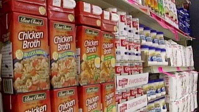 Store Shelves Stocked For Thanksgiving Chefs