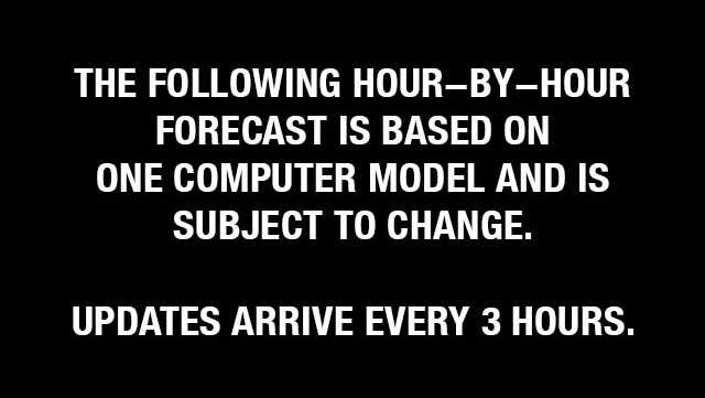 Generic weather disclaimer