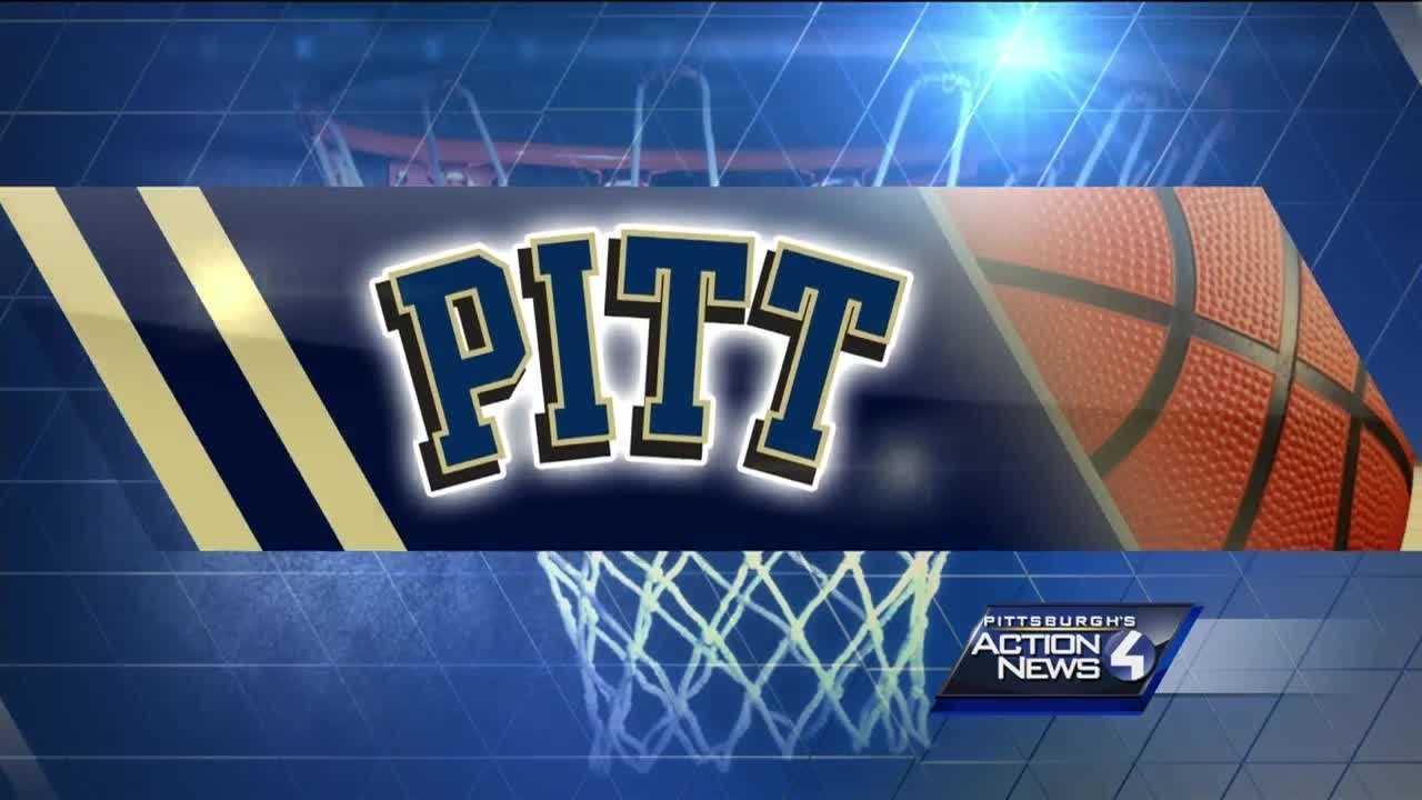Pitt script blue letters on gold