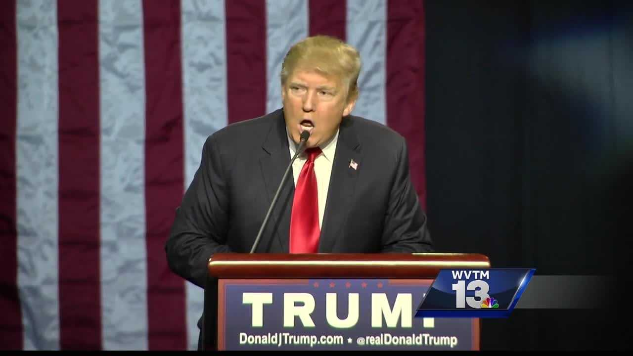 Donald Trump holds campaign rally in Birmingham