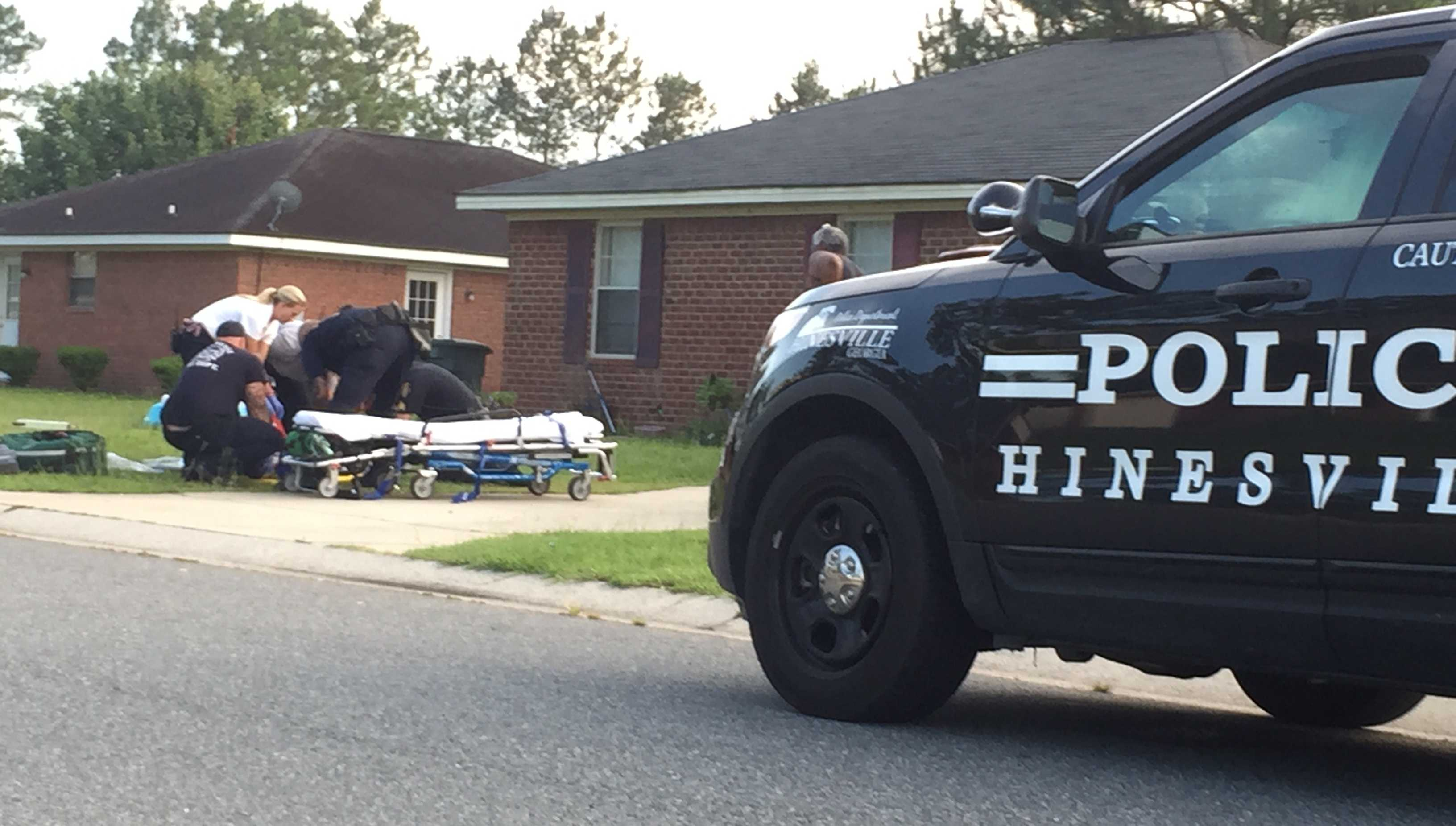 Police in Hinesville were investigating a stabbing at a home on Pineridge Way Wednesday evening.