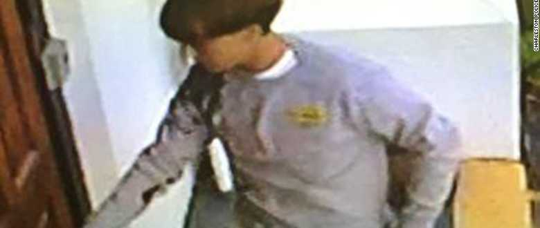 Charleston police are circulating images of the church shooting suspect to help in the manhunt.