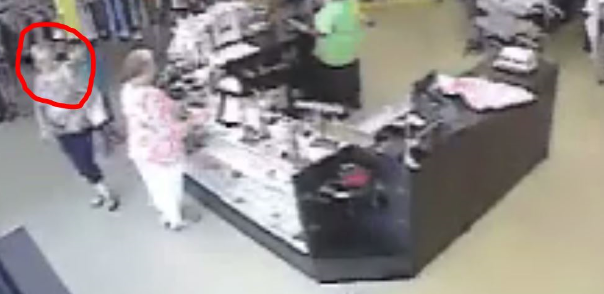 Video shows suspect who allegedly stole money from a purse in a Savannah Goodwill Store. (SCMPD)