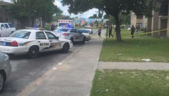 Police on scene of a shooting on Emerald Dr.