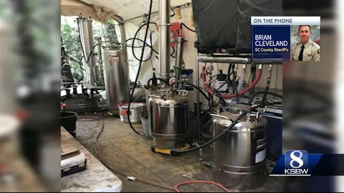 Large Butane Honey Oil lab found in Aptos