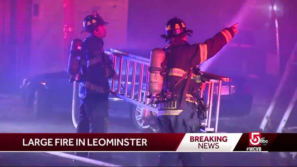 Firefighters battle Leominster fire