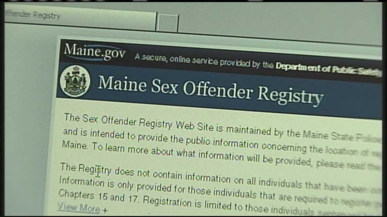Sex offender registry of maine