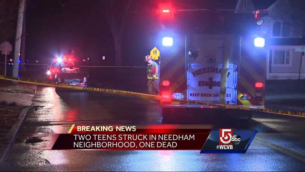 Teens hit by car in Needham, one dead