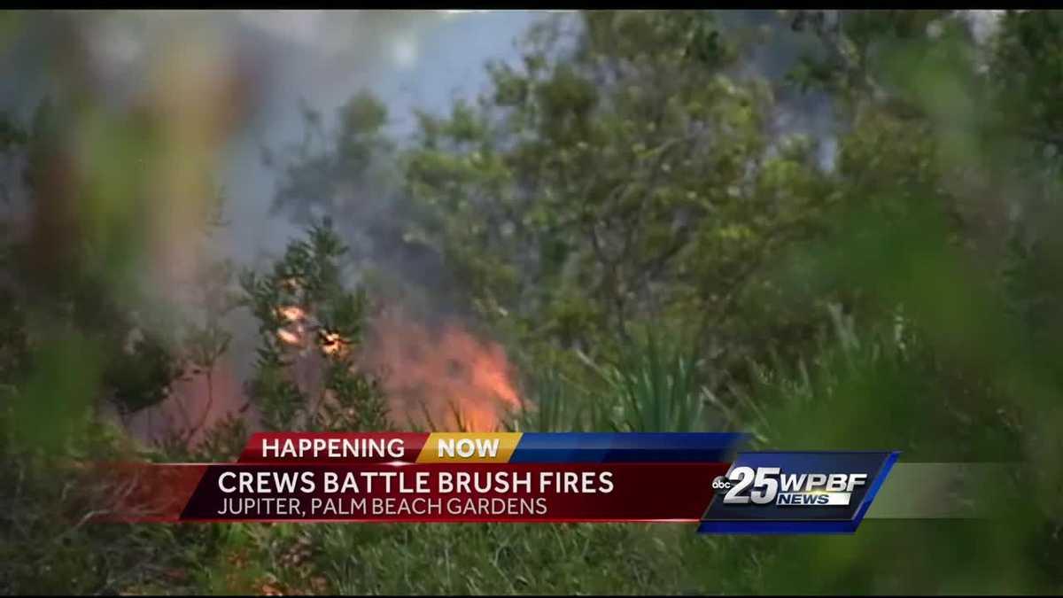 Crews Battle Brush Fire In Jupiter Palm Beach Gardens