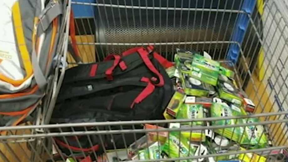 Man accused of 39 clearing aisle 39 of fishing gear at walmart for Fishing gloves walmart