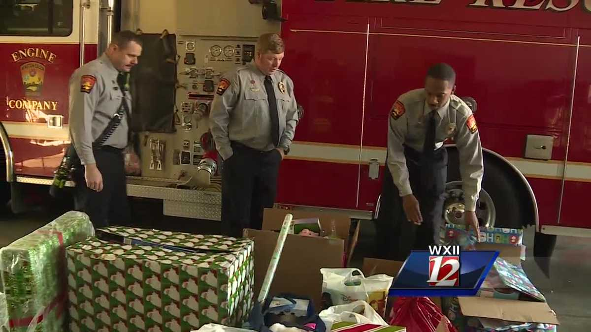 Winston-Salem Firefighters Collect Christmas Gifts For