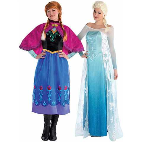 frozen halloween costumes elsa and anna