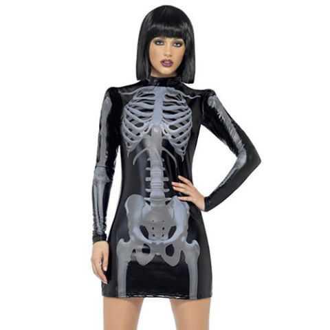 Fever Skeleton Print Costume