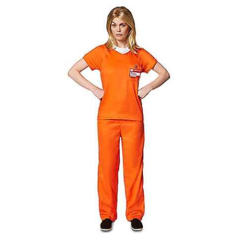 ADULT ORANGE PRISONER COSTUME - ORANGE IS THE NEW BLACK