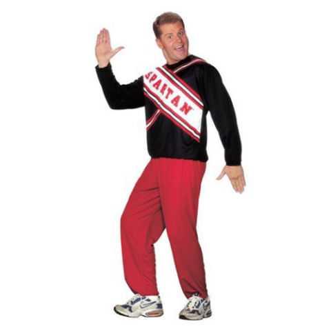 Spartan Guy Cheerleader Adult Halloween Costume