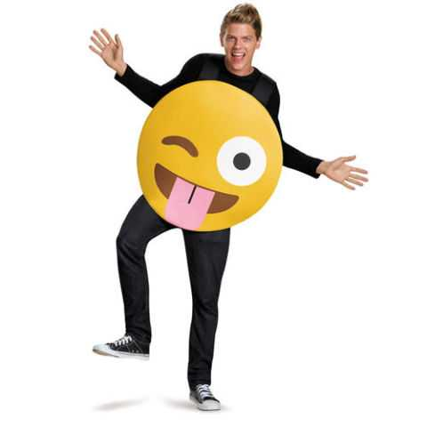 Emoticon Tongue Out Costume Adult
